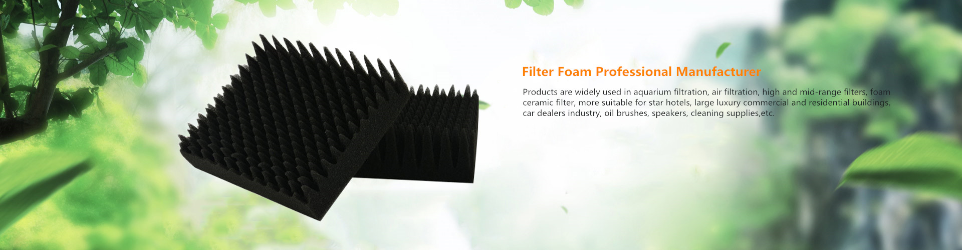 filter foam professional manufacturer